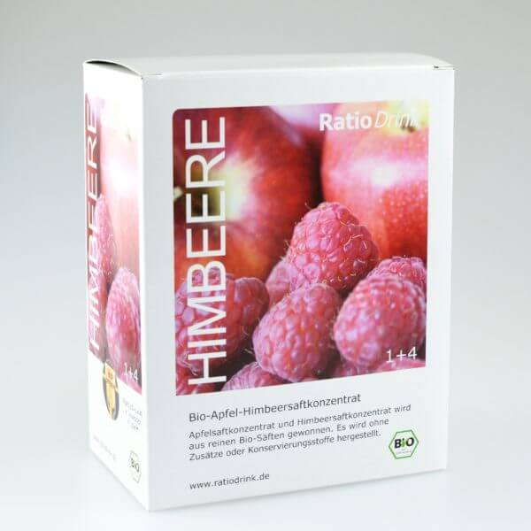 Bio-Apfel-Himbeersaftkonzentrat, Saft, Konzentrat, Himbeere, Bio